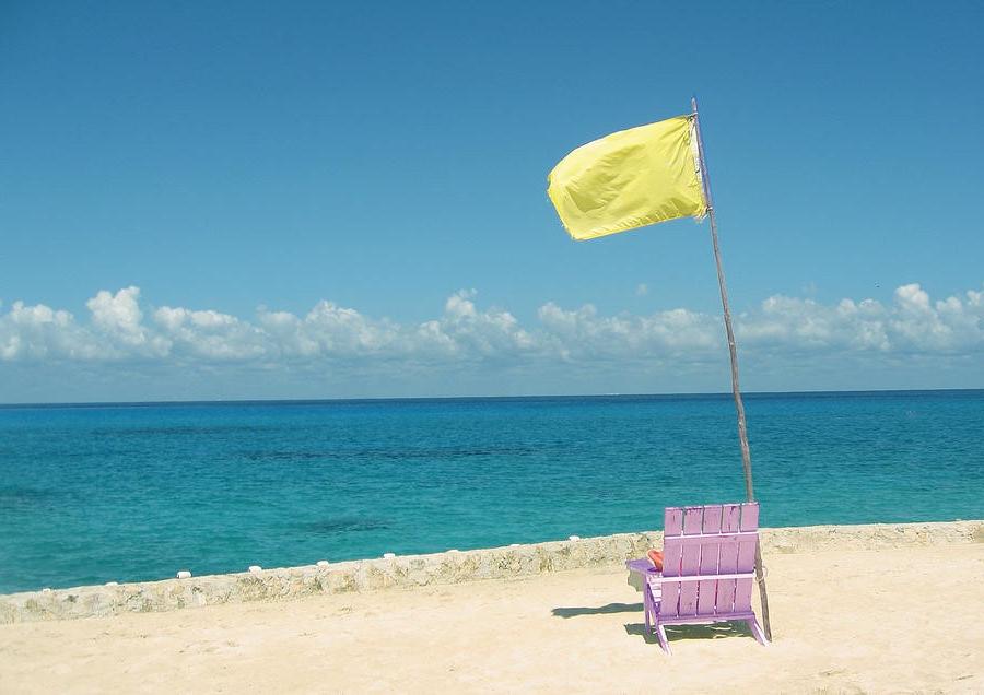 Yellow Beach Flag - Extra Caution