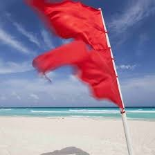 Double Red Beach Flag - STOP