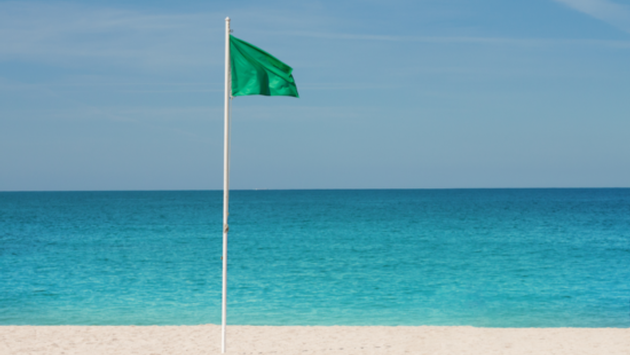 Green Beach Flag - All clear